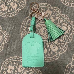 NEW Destination Magic Mint Leather Luggage Tag